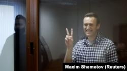Алексей Навальный сот залында. Ақпан айы, 2021 жыл.