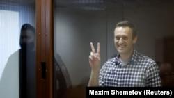 Алексей Навальный в суде, Москва, 20 февраля 2021 года
