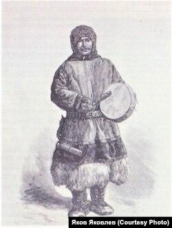 Северный шаман. Гравюра по рисунку XIX в.