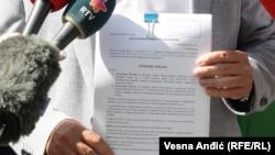 Potpredsednik Srpske napredne stranke Miloš Vučević sa krivičnom prijavom podnetom Republičkom javnom tužilaštvu