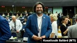 Deutsch Tamás magyar képviselő az Európai Néppárt képviselőcsoportjának ülésén, Strasbourgban, 2019. július 15-én.