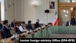 نشست هیئتهای افغانستان و طالبان در تهران