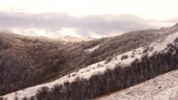 Зима на склонах нижнего плато Чатыр-Дага (видео)