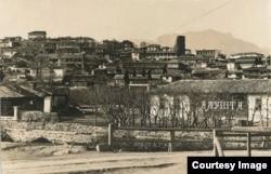 Старая Алушта. Где-то наверху слева был дом семьи Ильяса Эшрэфа