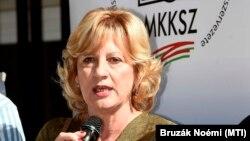 Boros Péterné, az MKKSZ elnöke 2018. szeptember 21-én