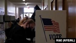 Подсчет голосов на выборах в США.
