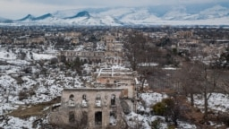 Nagorno Karabakh -- Ruins of Agdam photographed in 2010, near the frontline of the conflict.