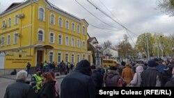 Moldova - protest organizat de PAS pentru independența Curții Constituționale, Chișinău, 26 aprilie 2021