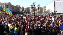 Protesters In Kyiv Demand Russia Release Ukrainian Pilot