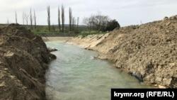 Русло річки Біюк-Карасу, де раніше була дамба, 2 травня 2021 року