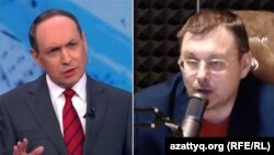 Duma deputatları Vyaçeslav Nikonov (solda) və Yevgeni Fyodorov