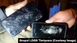 Grupul civic LOGS din Timișoara spune că refugiații s-au plâns că polițiștii le-ar fi spart telefoanele.