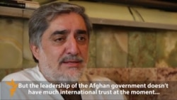 Karzai Critic Abdullah Abdullah Says Government Has Little Trust