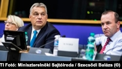 Hungarian Prime Minister Viktor Orban at a European People's Party meting in 2018.