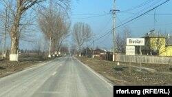 Intrarea în satul Bivolari, județul Iași