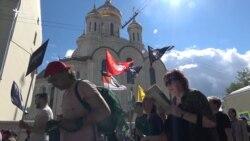 Сотні людей у Москві вийшли на марш проти цензури в інтернеті (відео)