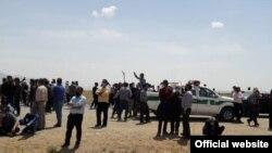 تجمع کشاورزان معترض در اصفهان؛ عکس از خبرگزاری ایلنا