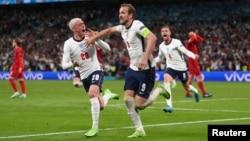 Անգլիայի հավաքականի ավագ Հարի Քեյնը Դանիայի հավաքականին երկրորդ գոլը խփելուց հետո, Լոնդոն, 7-ը հուլիսի, 2021թ.