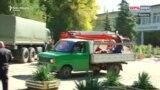 Prevoz ranjenih na kamionu