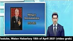 Государственный телеканал «Алтын Асыр» сообщил о смерти Мяликгулы Бердымухамедова, отца президента Туркменистана Гурбангулы Бердымухамедова. 18 апреля, 2021 года.