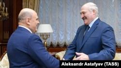 Բելառուսի նախագահ Ալեքսանդր Լուկաշենկոն ընդունում է Ռուսաստանի վարչապետ Միխայիլ Միշուստինին, Մինսկ, 16-ը ապրիլի, 2021թ․