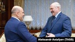 Міхаіл Мішусьцін і Аляксандар Лукашэнка, Менск, 16 красавіка