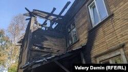 Сгоревший дом в переулке Водников