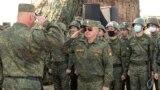 Liderul de la Tiraspol, Vadim Krasnoselski la manevrele trupelor din regiunea transnistreană, 2 octombrie 2020