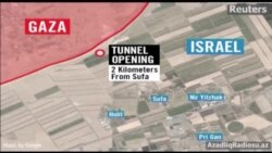 İsrail ordusunun tuneldən çıxan fələstinliləri vurduğu vaxt çəkdiyi video