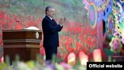 "Президент Шавкат Мирзиёев ""Humo Arena""да 21 март куни ўтказилган тантанада нутқ сўзлади."