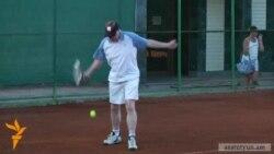 UK Envoy Speaks On London Olympics At Yerevan Tennis Court