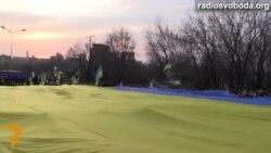 Украинский флаг в Донецке идет на рекорд