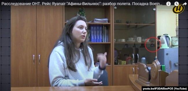 Кадр из видео показанного по белорусскому ТВ рассказа Александры Стабредовой