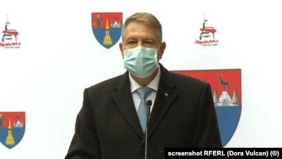 Romania President Klaus Iohannis (file photo)
