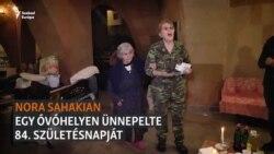 Óvóhelyen ünnepelte 84. születésnapját