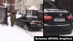 10 лютого журналісти зафіксували, як у ворота КСУ заїхала Toyota Camry з номерними знаками «КС» – вона привезла суддів Конституційного суду