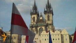 Акцыя салідарнасьці з палітвязьнямі ў Празе