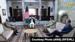 دیدار رئیس جمهور غنی با لوی درستیزهای بریتانیا و پاکستان در کابل 10 May 2021