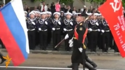 Russian Military Parades Through Crimea's Sevastopol