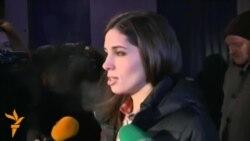 Pussy Riot qrupunun üzvü Nadezhda Tolkonnikova siyasi məhbusların azadlığına çalışacağını deyir
