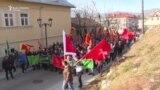 Demonstranti na Cetinju o protestu protiv litije SPC