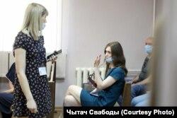 Аліна Касьянчык у судзе