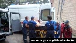 Эвакуация туристки с подвернутой ногой, Крым, 26 сентября 2021 года