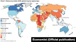"""Индекс на демократија на """"Економист"""""""
