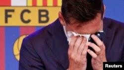 Мессі розплакався під час своєї прес-конференції (фотогалерея)