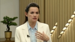 Tsikhanouskaya Says She's Nothing To Ask Putin, Except To 'Respect Our Sovereignty'