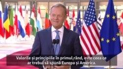 Donald Tusk după convorbiri cu Donald Trump: Valorile și principiile în primul rând