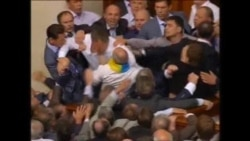 Fracas In Ukraine Parliament Over Language Law