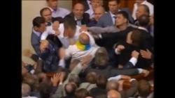 Fracas In Ukraine Parliament Over Language Law
