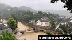 A general view following heavy rainfalls in Schuld, Germany, July 16, 2021.